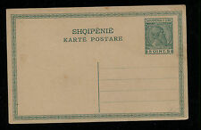 Albania  postal card 5Q  green  unused        MS0814