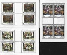 Czechoslovakia MNH Sc 2766-68 Mini-sheets Mi 3025-27 KB Value 20 Euro