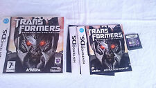 TRANSFORMERS REVENGE OF FALLEN NINTENDO DS DSI 2DS 3DS XL PAL UK INGLÉS