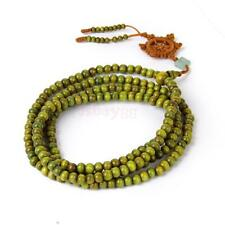 Green Tibetan Sandalwood Buddhist Buddha 216 Prayer Beads Mala Bracelet/Necklace