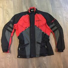 Rev'it Rev It Motorcycle Jacket XL Textile Red Black Grey Scotchlite 3M Rrp £199