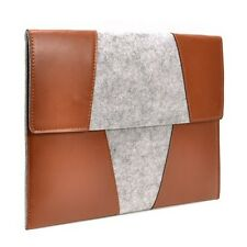 "Light Brown with Flap Felt Sleeve Bag for All 13"" Macbook /Ultrabook /Chromebook"
