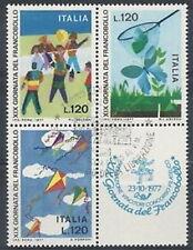 1977 ITALIA USATO GIORNATA DEL FRANCOBOLLO BLOCCO - 2