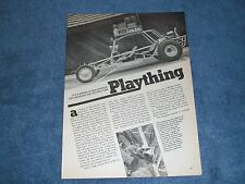 "1979 VW Powered 4-Seat Sand Rail Vintage Article ""Plaything"""