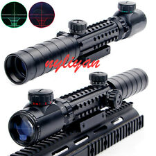 New 3-9X32EG Red/Green Optics Rifle Sight Scope 20 rail Mount for Hunting