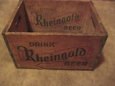 Vintage Beer Crate DRINK RHEINGOLD BEER United States Brewing Co. Chicago