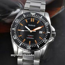 43mm Parnis black dial Sapphire glass waterproof 200m automatic mens dive watch