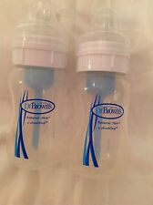 Dr. Browns baby bottles 8 oz Natural Flow by HandiCraft set of two