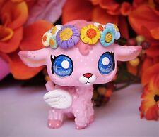 Littlest Pet Shop Angel Spirit with flowers crown ooak custom figure LPS