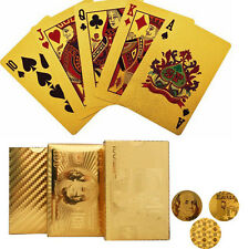 Foil Gold Plated Poker Playing Cards Casino Game Props Popular Paper Cards New