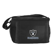 Oakland Raiders Insulated Cooler Zipper Lunch Bag Box Tote 6 Pack NFL NWT