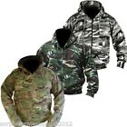 MENS ARMY HOODIE FULL ZIP JACKET MTP CAMO FLEECE LINED HOODY MULTICAM CAMOFLAUGE
