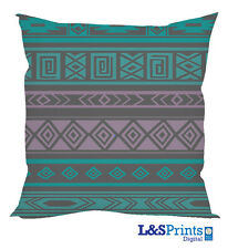 ETHNIC PATTERN TURQUOISE AND  PURPLE  CUSHION GREAT GIFT IDEA HOME ACCESSORY