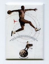 MICHAEL JORDAN / MARS BLACKMON - MINI POSTER FRIDGE MAGNET (nike air 3 4 5 6)