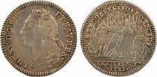 Louis XV, jeton du sacre au bandeau, Reims 1723, bronze argenté - 11