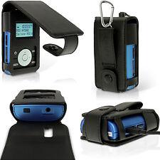 Schwarz PU Leder Tasche Case für Radio Grundig Micro 75 DAB+ Etui Schutzhülle