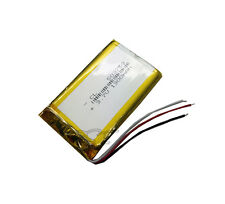 Li-polymer Li-ion Rechargeable Baterry PCM 3-wire for GPS  3.7V 1300 mAh 053759