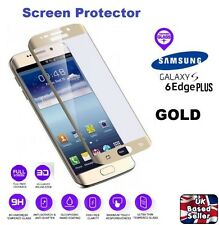 3D Curved Tempered Glass Screen Protector for Samsung Galaxy S6 Edge Plus - GOLD