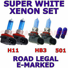 FITS VOLVO S40 2004-ON SET HB3  H11  501 SUPER WHITE XENON LIGHT BULBS