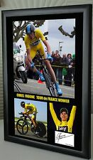 "Chris Froome Tour de France Winner Framed Canvas Signed ""Great Gift or Souvenir"""