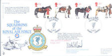 1997 Queen's caballos RAF FDC Firmado Co 203 Sea King Sqn Williams