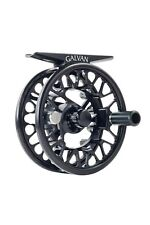 GALVAN BROOKIE B 0/1 NEW ULTRA LIGHT LARGE ARBOR FLY REEL BLACK FREE US SHIPPING