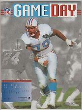 1995 Houston Oilers v Jacksonville Jaquars GameDay Program ~ Ray Childress Cover