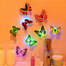 Colorful Changing Butterfly LED Night Light Lamp Room Party Desk Wall Home Decor
