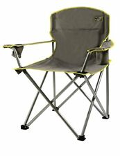 Quik Chair Heavy Duty 1/4 Ton Capacity Folding Chair with Carrying Bag Grey