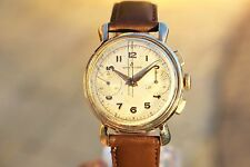 Vintage 1951 BREITLING Chronograph #1192 Watch Spyder Lugs Just Serviced Venus