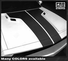 Dodge Challenger Hood T-Stripes Factory Style 2011 2012 2013 Decals Pro Motor
