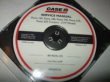 CASE IH PUMA 165 180 195 210 225 TRACTORS CVT MODELS SERVICE SHOP REPAIR MANUAL