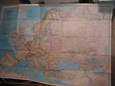HISTORY OF EUROPE MAP+ EUROPE POLITICAL MAP National Geographic 1983 Huge MINT