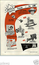 1955 PAPER AD 2 PG Toy Roy Rogers Pinky Lee J Fred Muggs Rocking Horse Pull Toys