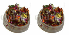 2 x 3g pots nail art foil leaf flakes old copper pot and for nails decoration