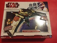 Star Wars Clone Wars 2009 V-19 TORRENT STARFIGHTER -  w/ Diorama New