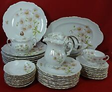 MITTERTEICH china Bavaria Germany DAISY BELL 52-piece SET SERVICE for EIGHT (8)