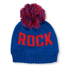 Boys 'Rock On' Pom Pom Beanie HAT size L/XL(8+YR)