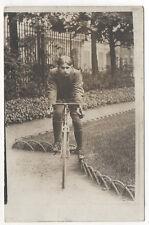 PHOTO - Carte - Transport - Vélo de course - Cycliste  - Homme - Vers 1920