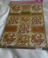 Buzzcraft Rustic Charm-Butterfly Mats- Foiled & sentiments-matching backing shee
