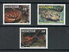 STAMP / TIMBRE POLYNESIE NEUF  N° 275/277 ** FAUNE MARINE CRUSTACES