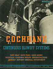 Cochrane Continuous Blowoff Systems Catalog Flash Tanks Condensors