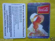 1997 rare phone cards 50 P schede telefoniche the coca cola coke telefonkarten