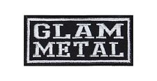 Glam Metal Heavy Biker Rocker Patch Aufnäher Bügelbild Musik Kutte Badge T6