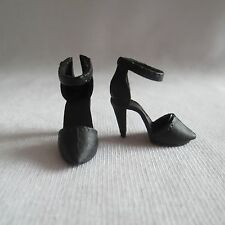 NEW! 2015 Barbie Style Glam Luxe Doll Black High Heel Shoes ~ ADD ON ITEM!