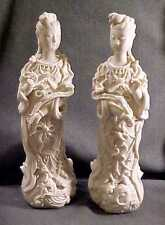 ANTIQUE CHINESE Opposing Pr DEHUA BLANC De CHINE GUANYIN FIGURINES