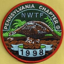 Pa Game Commission Related Pa Chapter NWTF 98 Artist Signed PREMIER ISSUE Patch