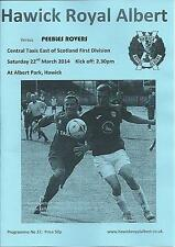 22 Mar 2014 Hawick Royal Albert V Peebles Rovers-pospuesto