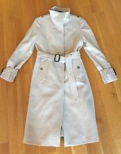 BURBERRY LONDON Wool Cashmere Military Button Closure Belted Trench Coat Sz US 6