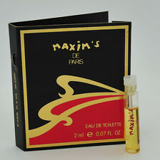 Vintage Maxim's de Paris 2ml vial eau de toilette 30 YEARS OLD